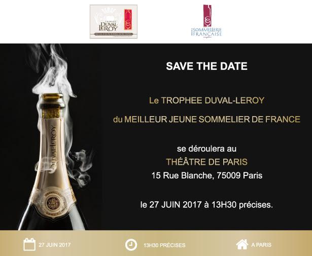 Flyer Trophée Duval-Leroy Meilleur Sommelier de France
