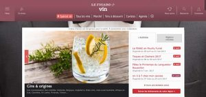 Home Page du site Figaro Vin