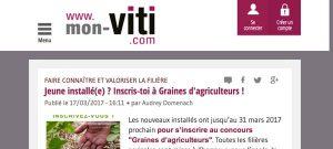 Home Page du site de Mon Viti