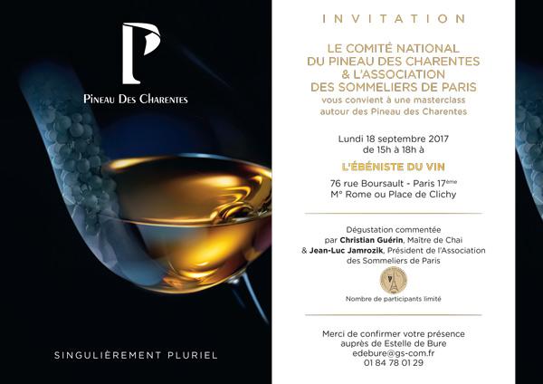Invitation Masterclass Pineau des Charentes