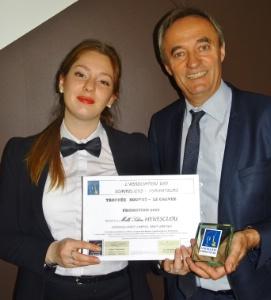 Solène Menesclou, lauréate du Trophée Bouvet-Le Calvez, élève de la MCS Ferrandi-Saint-Gratien