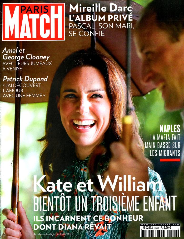 Couverture Paris Match du 07.09.2017