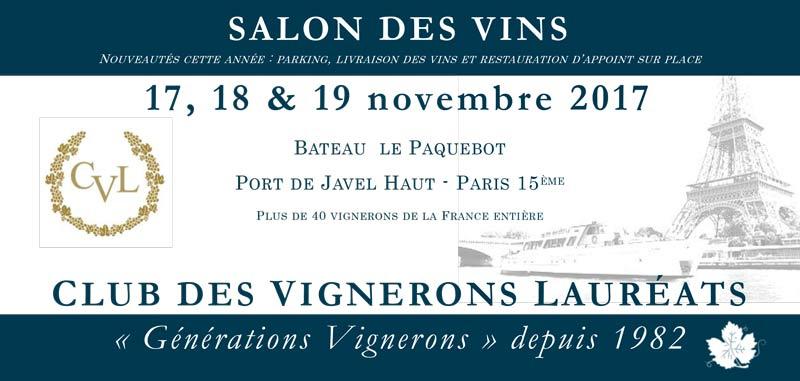 Flyer Salon des Vins, Club des Vignerons Lauréats