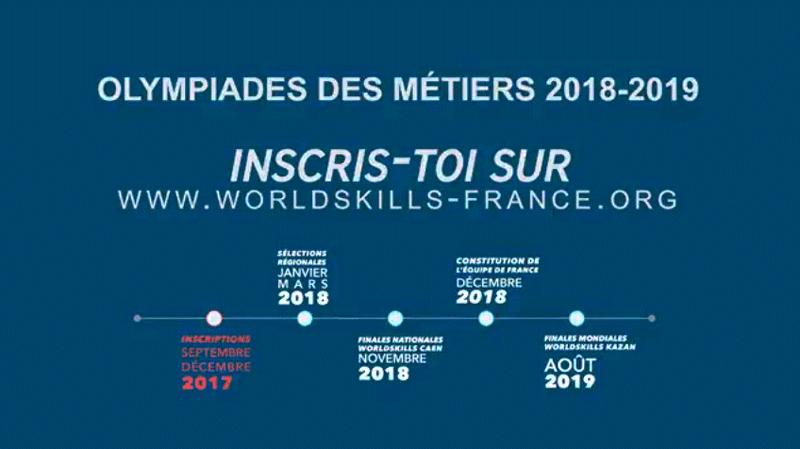 Inscription Olympiades des métiers 2019