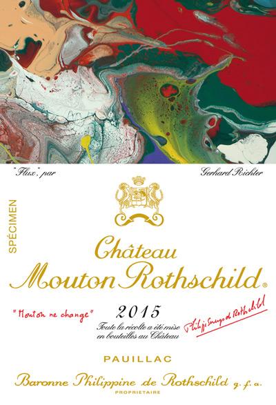 Etiquette Mouton Rothschild 2015