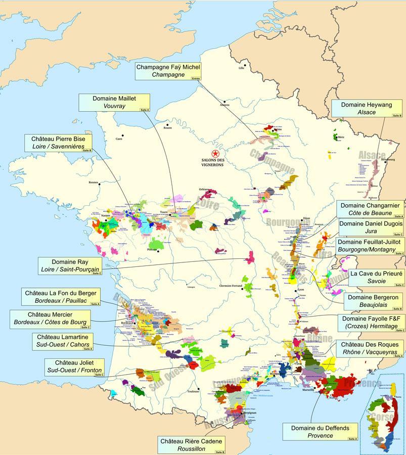 Carte des Vins Salon des Vins de Gif-Sur-Yvette