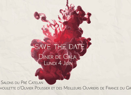 Save The Date - Dîner de Gala des Sommeliers de Paris Ile-de-France 2018
