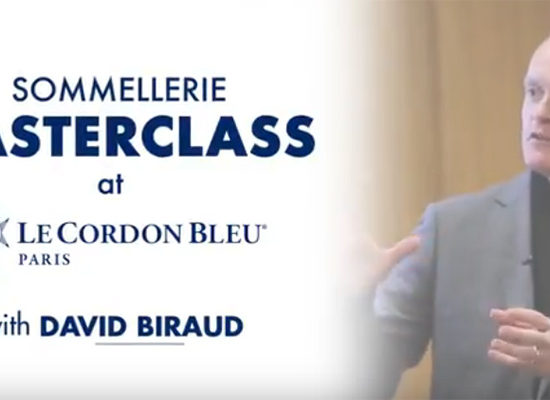 Vidéo de la MasterClass de David Biraud à l'école Le Cordon Bleu