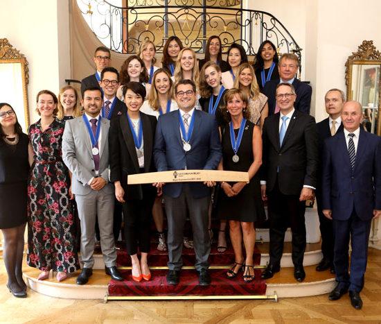 Les lauréats de la promotion 2017-2018 du Wine & Management de l'Institut Le Cordon Bleu 2017-2018