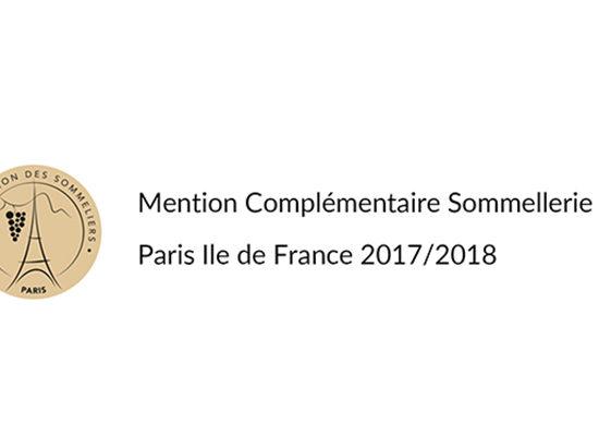 Logo Mention Complémentaire Sommellerie 2017-2018