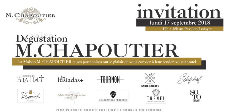 Invitation à la dégustation de la Maison Chapoutier 2018