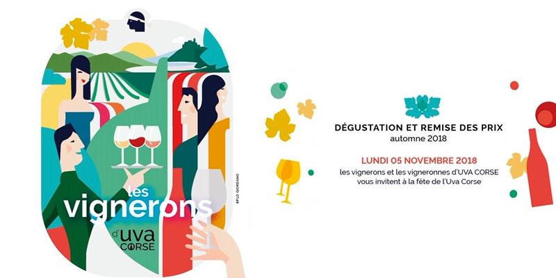 Invitation dégustation automne 2018 UVA Corse