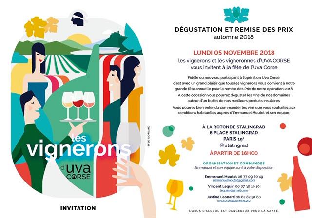 Affiche dégustation automne 2018 UVA Corse
