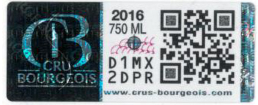 Sticker Crus Bourgeois Médoc 2016