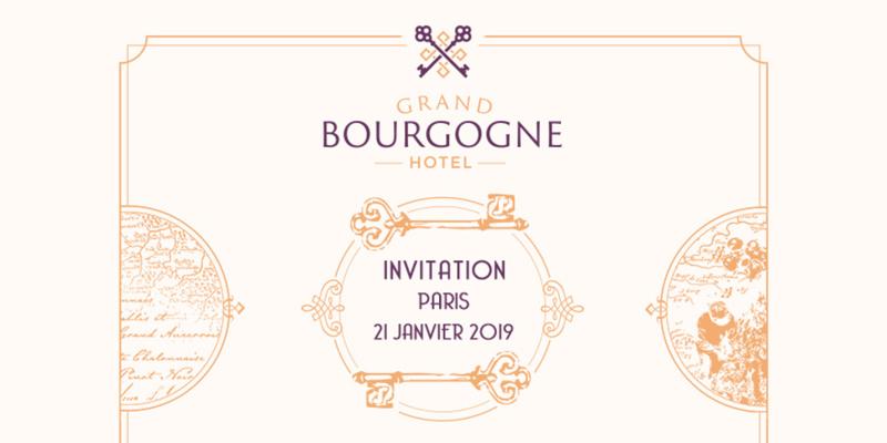 Invitation Dégustation Grand Hôtel Bourgogne