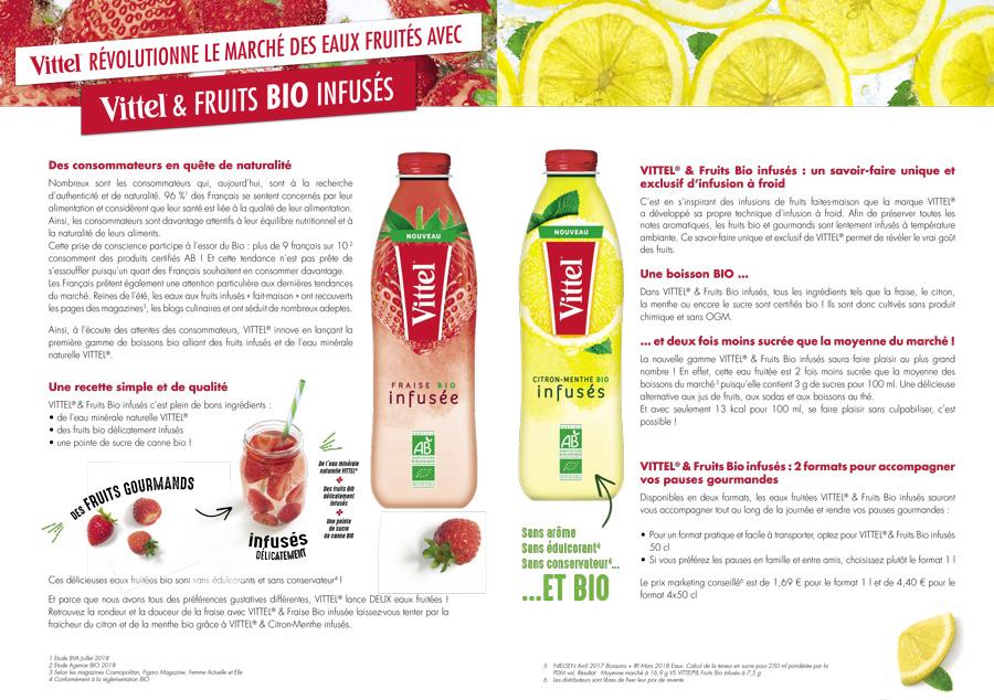 Communiqué de Presse Vittel & Fruits Bio Infusée