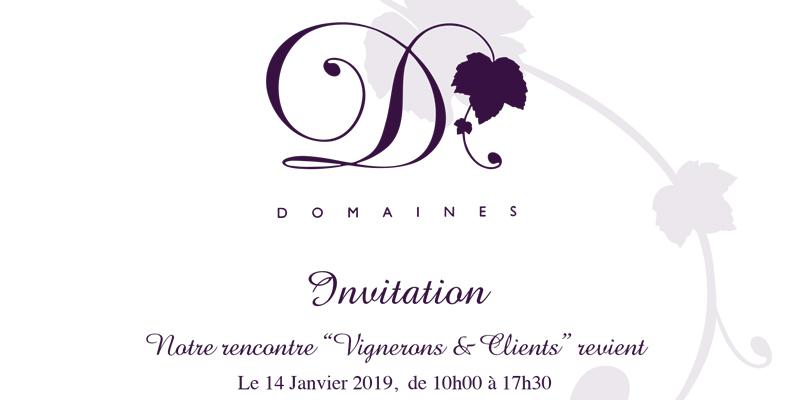 Flyer Dégustation Domaines, Vignerons et Clients