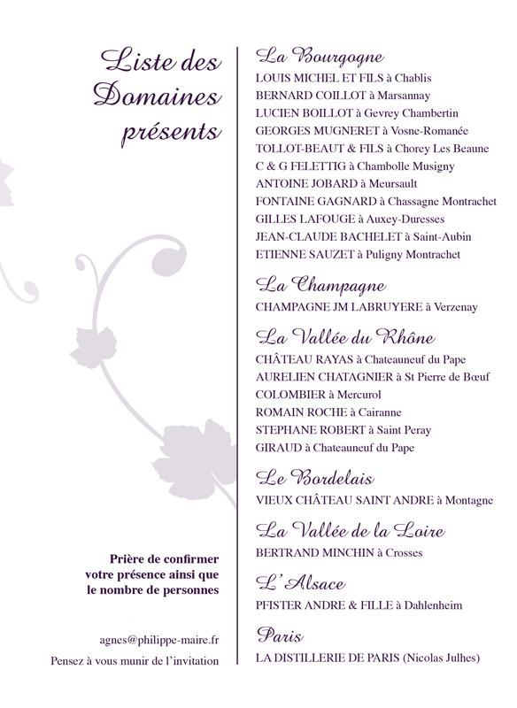 """Invitation à la dégustation Domaines """"Vignerons et Clients"""""""