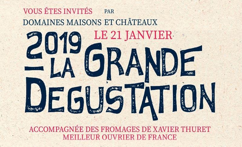 Flyer La Grande Dégustation Domaines Maisons et Châteaux 2019