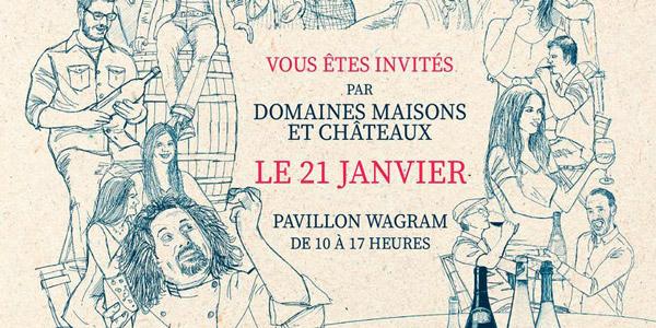 Invitation La Grande Dégustation Domaines Maisons et Châteaux 2019