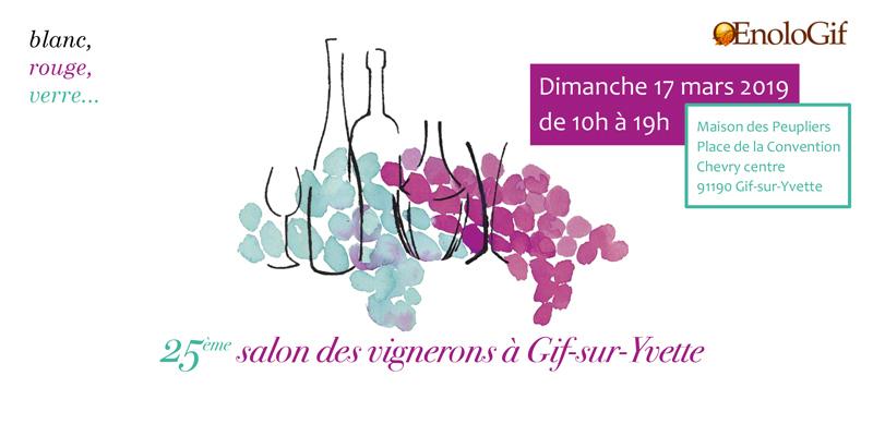 Flyer du Salon des Vignerons de Gif-sur-Yvette 2019