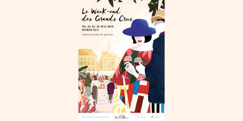 Flyer du Weekend des Grands Crus de Bordeaux 2019