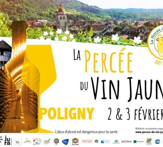 Affiche de la 22è édition Percée du Vin Jaune