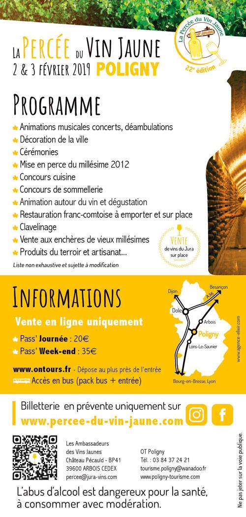 Flyer Affiche de la 22è édition Percée du Vin Jaune