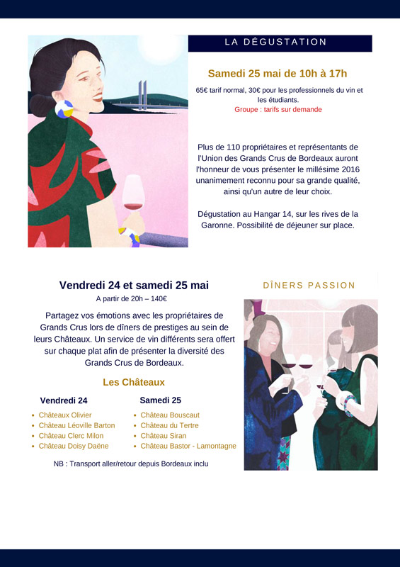 Programme du Weekend des Grands Crus de Bordeaux 2019