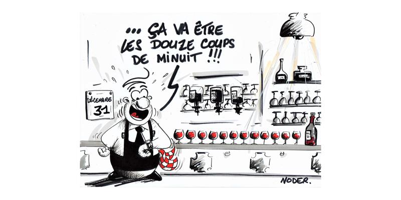 Caricature annonçant la Paulée 2019