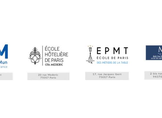 Logos des Ecoles Parisiennes de la Mention Complémentaire de Sommellerie