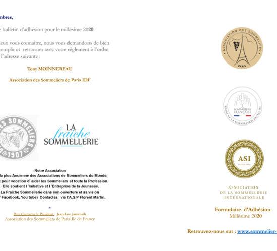 Nouveau Bulletin d'adhésion ASP 2020
