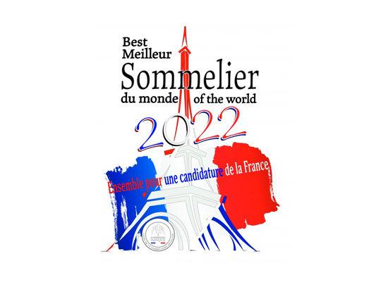 Flyer pour la candidature de la France au Meilleur Sommelier du Monde 2020.