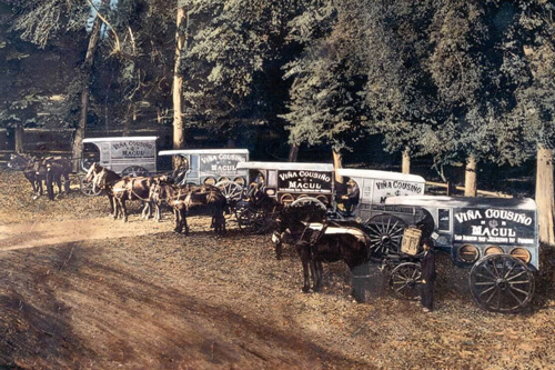 Chiles_Heritage_Wineries_Cousino_Macul_horse_drawn_delivery_trucks_1920