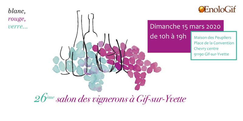 Invitation au 26e Salon OenoloGif de Gif-sur-Yvette
