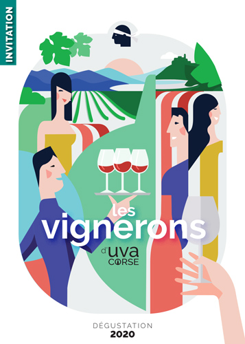 Invitation de la dégustation des Vignerons d'UVA Corse printemps 2020