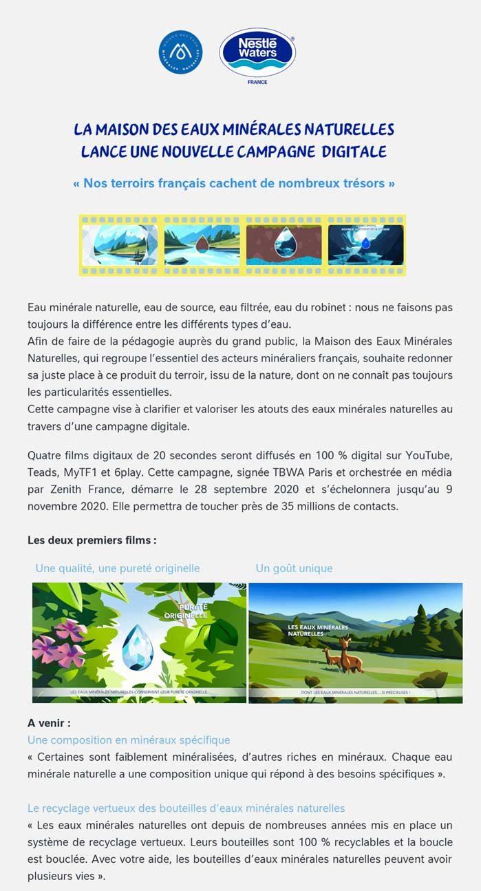 Communiqué de Presse Nestlé Waters